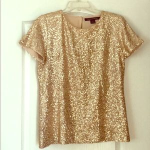 French connection sequin blouse